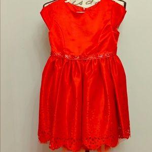 Red dressy dress